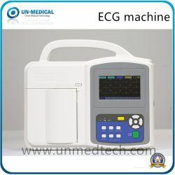 휴대용 디지털 병원 Electrocardiograph 12 지도 접촉 스크린 EKG ECG 기계 (UN8003)