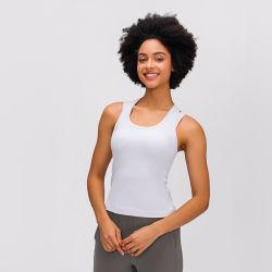 Estanla sentimiento desnudo Chaleco de Yoga en forma de U Ocio belleza elástica de vuelta corriendo Fitness Yoga deportivo el desgaste de las mujeres