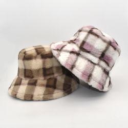 Form-verdicken Sartorial klumpiges traditionelles Plaid-Plüsch-Wolle-Pelz-Unisexweiche warme Winter-Wannen-Hut-Schutzkappe