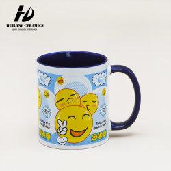 11oz Mug porcelaine droites/céramique des tasses à café à l'intérieur vitrage