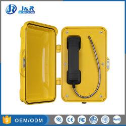 Teléfono de línea directa al aire libre teléfono, teléfono de túnel, analógica/SIP/GSM teléfonos de emergencia para ferrocarriles, carreteras