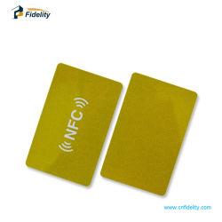 Muestras gratis de tarjetas inteligentes sin contacto 13.56MHz RFID en blanco de papel de PVC Tarjeta con chip NFC