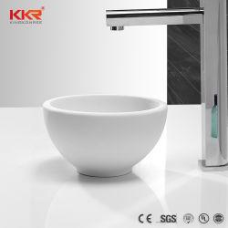 유럽 작은 인공적인 돌 탁상용 둥근 손 세척 수채 목욕탕
