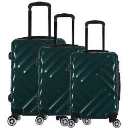 2020 nueva moda acabado satinado ABS+PC Bolsa de viaje Trolley maletas