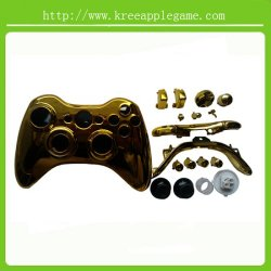 Chome Gold Shell CaseおよびxBox 360 Wireless ControllerのためのKnit