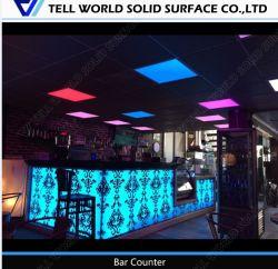 Moderner geschnitzter Muster-Stab-Kostenzähler für Nachtclub mit LED-Licht