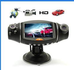 2.7'' de GPS de visión nocturna de doble cámara grabadora DVR coche Dashcam