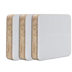 Venda por grosso de filme de melamina face revestida de melamina branca da placa de partículas de aglomerado de madeira para decoração