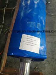 Resistente al agua azul PE Lona Rollo, lona de polipropileno cubierta de Truk