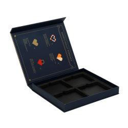 Kundenspezifischer Set-Augenschminke-Ladeplatten-Paket-Kasten-magnetisches Schliessen der Marken-4