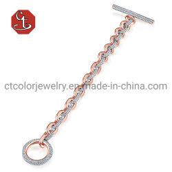 Il micro dell'argento di modo o del braccialetto dell'ottone pavimenta i braccialetti della CZ per gli uomini o i monili delle donne