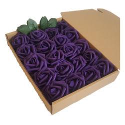 7سم وردة رأس الوردي الورد الورود مواد الزهور 7سم مجموعة زهور الفوم PE