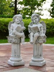 Polyresin 천사 또는 아기 천사 조각품 수지 천사 또는 아기 천사 작은 조상