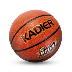 كرة السلة الجلدية المكسوة بالبلاستيك المتين والمصنوعة من المطاط والمصنوعة من مادة البولي فينيل كلوريد (PU)/المصنوعة من مادة الكلوريد الداخلي/الخارجي لون برتقالي