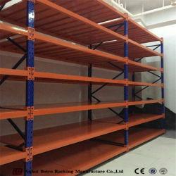 Течение долгого стальных систем хранения складских стеллажей со стальной палубе