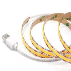 5V USB COB 스트립 조명 5m, 도트 없음, 450LED/512LED TV 백라이트 교반등