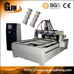Alavanca multifuncional, Multi-Spindle, 2D e 3D, 4 fresadora CNC de eixos rotativos