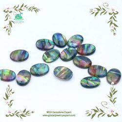 MGO Jóias Global colorido azul brilhar Ammolite Sintético Pedras