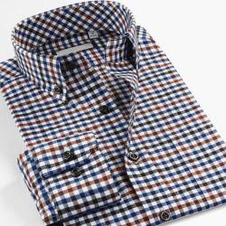Diseño personalizado de venta al por mayor vestido de camisas para hombres de negocios