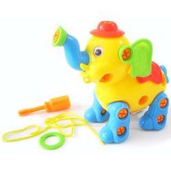 La educación de niños de dibujos animados de elefantes de plástico de juguete DIY con juguetes EN71 (10222098)