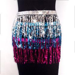 Tassel sequins Belly Dansende rok Belly Hip Sjaal Dance rok Wrap Fashion Wear Esg16135