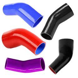 Alquiler de carretilla Auto Parts tubo flexible de silicona Universal reductor codo de 45 grados turbo intercooler del tubo de acoplador de tubo flexible de silicona/Tubo tubo/