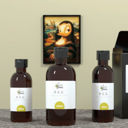 手のSnitizerの液体石鹸アルコールゲル(BM-250A)のための装飾的な包装のプラスチックペットびん