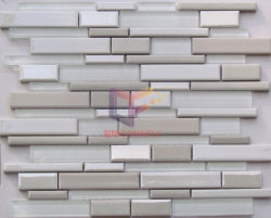 Super White Glass Mosaic (CFS652)를 가진 베이지색 Cracked Effect Ceramic
