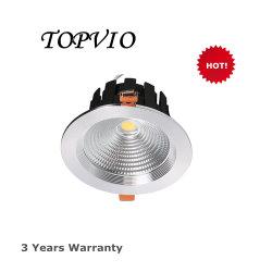 Ronda de prata 3000k 20W luz descendente de sabugo Spot candeeiro de tecto LED