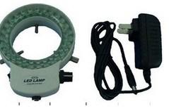 Nuovo White Illuminated Microscope Ajustable Ring Light Stereo Microscope 48 LED Ring Lamp con Adapter 220V o 110V