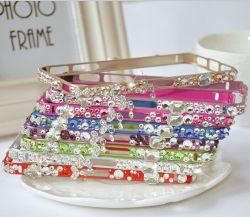 Kristallrhinestone-Diamant Bling Metallstoßkasten für iPhone 5s