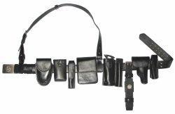 Polizia Duty Belt con Leather Materials (JYWZD-001)