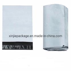 맞춤형 폴리 자체 밀봉 소성 꼬치엘 우표 우체국 포장 우편 배달용 백지 외부 흰색 내부 검은색