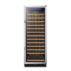 Dispositivo di raffreddamento di vino di zona del portello dell'acciaio inossidabile del frigorifero del vino della Cina singolo