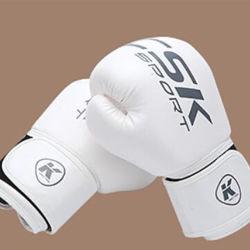 Настраиваемый логотип печати горячая продажа PU спорта бокс перчатки