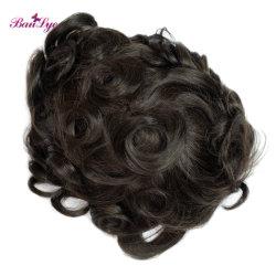 Cheveux humains vierge 100 % l'homme de la décolleteuse Toupee perruque de cheveux bruts