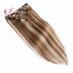 Brasilianische 100% menschliche Jungfrau Klavier-Farbe Remy Clip in Haarverlängerung