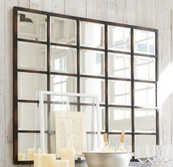 Современные Чулан Хоган оконное стекло наружного зеркала заднего вида на стене древесины, обеспокоены черный 30X30, левый-19041230