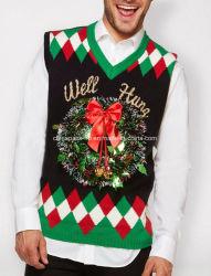 Acender Coroa bem travou feio suéter túnica de Natal