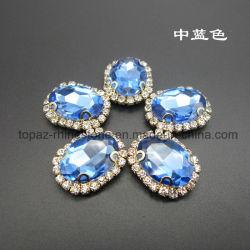 형식 모조 다이아몬드는 의복 부속품 (SW-10*14)를 위해 놓기에 안으로 꿰맨다