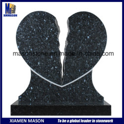 싼 가격을%s 가진 손에 의하여 새겨지는 유일한 디자인 실연 모양 파란 진주 화강암 동행자 기념물