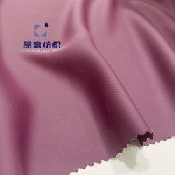 Ym9328 Poliéster Roxo de tecido reciclado como seda Chiffon para vestir blusa
