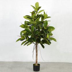 150 cm y 180cm de Ficus elástica Artificial Simulación de plantas decorativas árbol de caucho Rnamental Bonsai