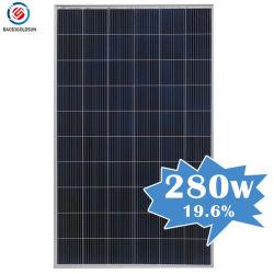 Big 25 años de garantía Yingli TUV 12bb 30V 280W de paneles solares de polipropileno de 150 vatios para la aplicación de la casa con el precio de coste en Inglaterra