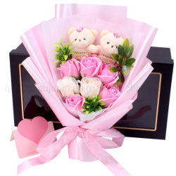 Geschenk-wohlriechende Seifen-Plüsch-Spielzeug-Blumensträuße des Soem-Mutter Tages