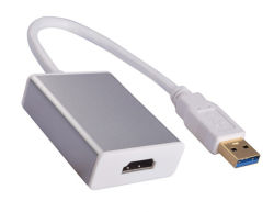 HDMIの2048*1152までの多重モニタのためのビデオ図形アダプターへのアルミ合金のシェルUSB 3.0