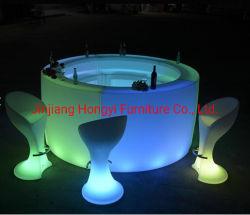 Cafe Bar comercial Diseño contador/LED Circle Bar mesa para los compradores de evento 3