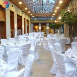 Evento de boda banquetes de alta calidad Spandex cubierta de la silla Chiavari