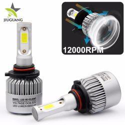 المصباح الأمامي تحويل المصابيح الأمامية S2 LED الجانبية الثلاثة المصباح الأمامي 36W 6500K H7 H4 COB المصباح الأمامي للسيارة