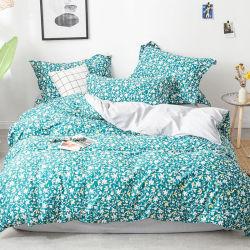 100% قطن منزل نسيج نسيج سرير ملكة حجم كينج طراز أوروب سرير في مجموعة من الوسائد